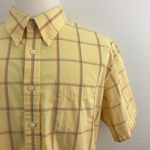 🆕 Dockers | Short Sleeve Yellow Plaid Shirt